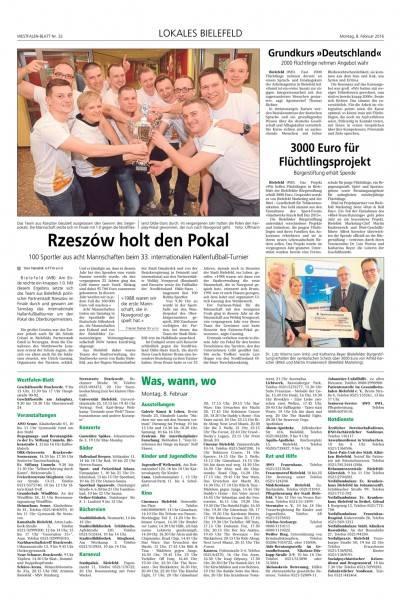Drużyna Miasta Rzeszowa zwycięzcą na międzynarodowym turnieju w Bielefeldzie - Aktualności Rzeszów