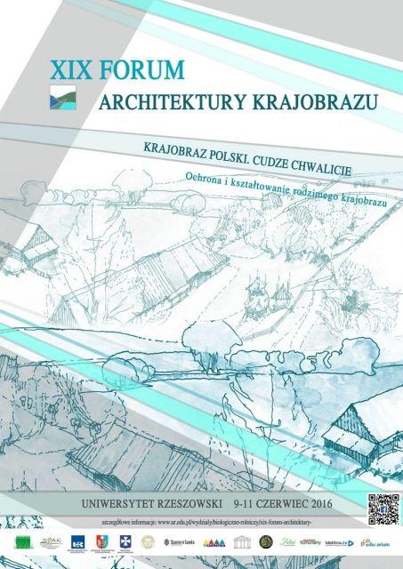 XIX Forum Architektury Krajobrazu - Aktualności Rzeszów