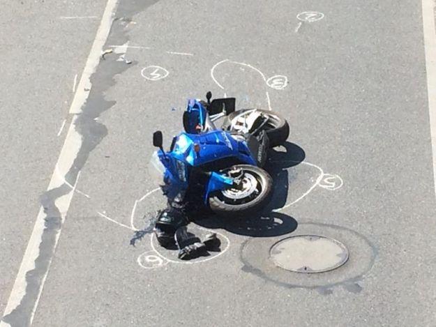 Wypadek na ul. Piłsudskiego. BMW zderzyło się z motocyklistą - Aktualności Rzeszów