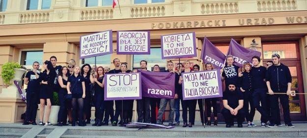 """Dziś w Rzeszowie kolejna manifestacja w ramach """"Czarnego protestu"""" - Aktualności Rzeszów"""