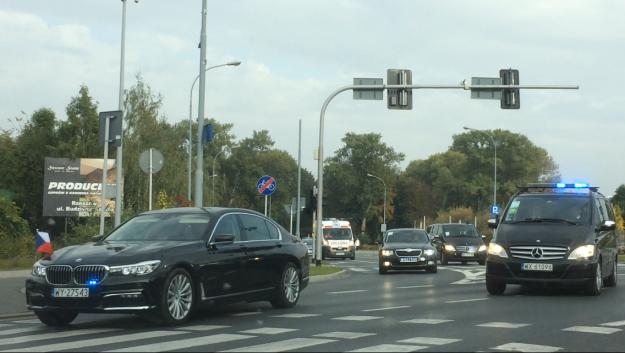 Rzeszowscy policjanci zabezpieczali wizytę prezydentów  Grupy Wyszehradzkiej - Aktualności Rzeszów