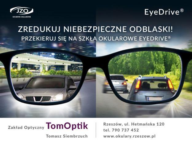 EyeDrive - bezpieczeństwo i komfort wzroku kierowcy w okularach - art. sposn.