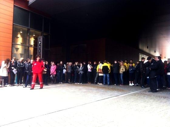 Ewakuacja Millenium Hall - Aktualności Rzeszów