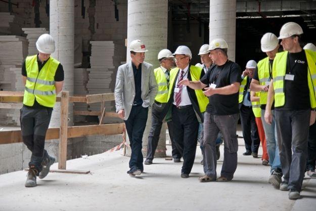 Prezydent Rzeszowa odwiedził budowę City Center - Aktualności Rzeszów