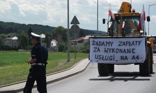Nie otrzymali pieniędzy za prace przy budowie autostrady - Aktualności Podkarpacie