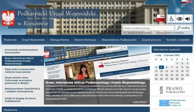 Nowa strona Urzędu Wojewódzkiego - Aktualności Podkarpacie
