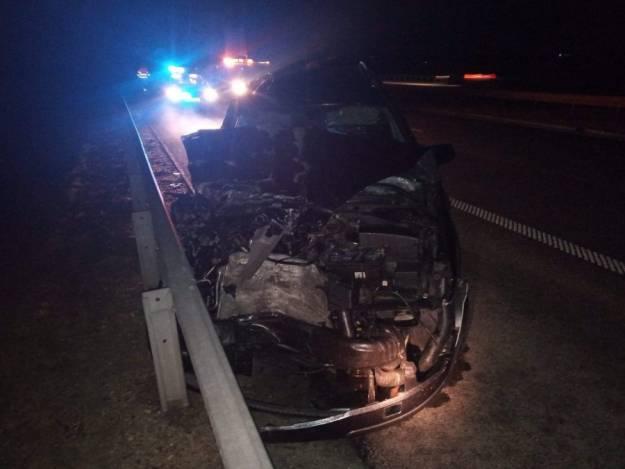 Kierowca zasnął za kierownicą. Uderzył w tył autobusu i bariery energochłonne - Aktualności Podkarpacie