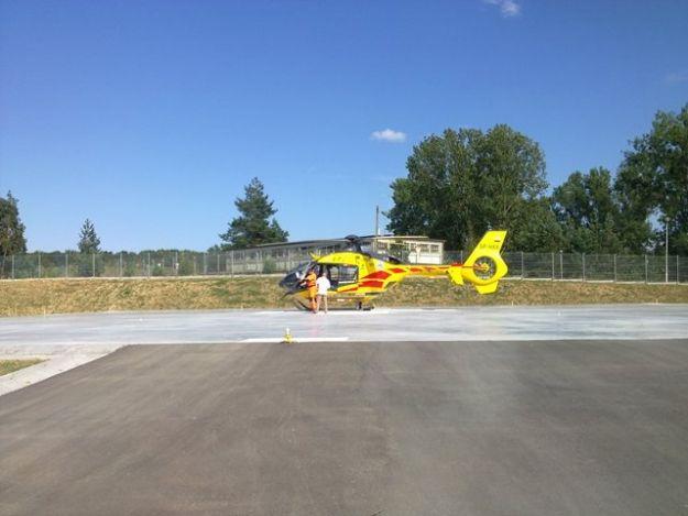Mielecki heliport przeszedł praktyczny test - Aktualności Podkarpacie