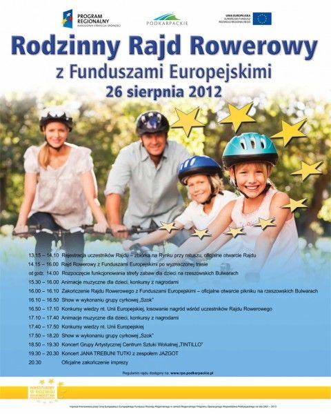 Rodzinny Rajd Rowerowy z Funduszami Europejskimi - Aktualności Rzeszów