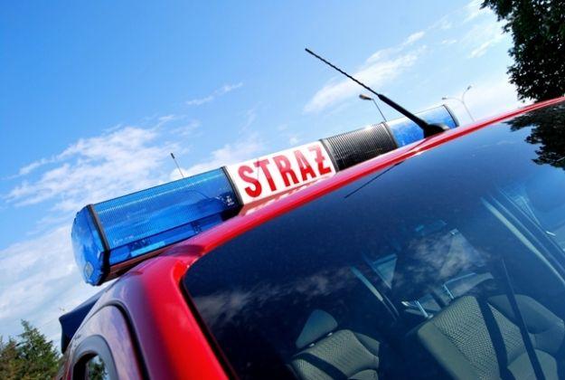Pożar chłodni samochodowej w Jaśle - Aktualności Podkarpacie