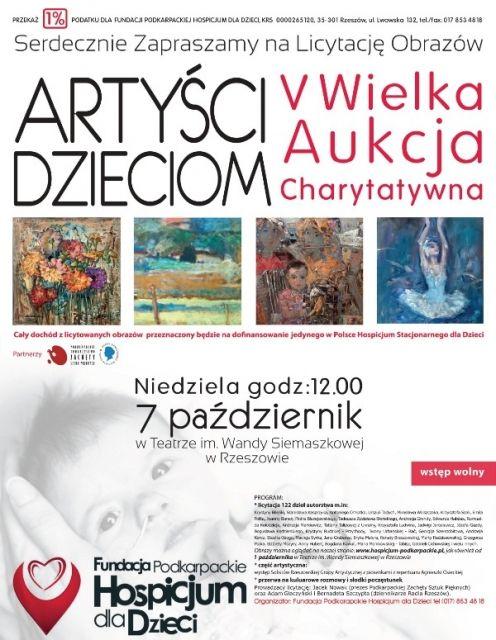 Aukcja charytatywna dla Hospicjum - Aktualności Rzeszów