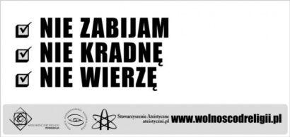 Ateistyczne plakaty w Rzeszowie i Przemyślu  - Aktualności Podkarpacie