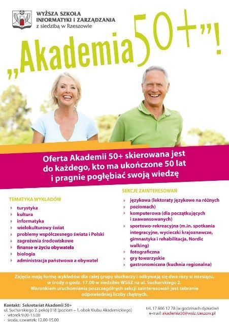 Rekrutacja do Akademii 50+ - Aktualności Rzeszów