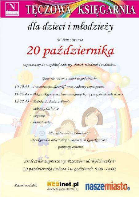 Otwarcie Tęczowej Księgarni - Aktualności Rzeszów