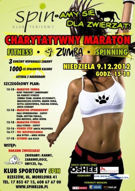 Charytatywny Maraton Fitness na rzecz zwierząt - Aktualności Rzeszów