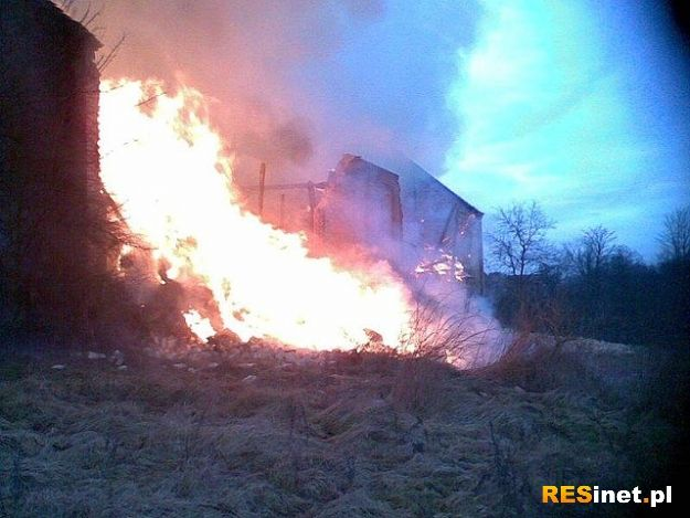 Pożar budynku gospodarczego w Lipie - Aktualności Podkarpacie