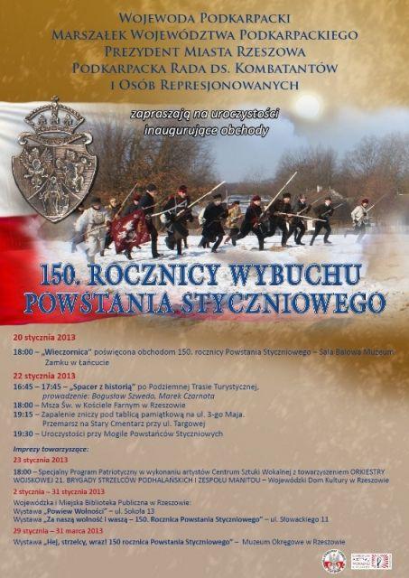 150 rocznica Powstania Styczniowego - Aktualności Rzeszów