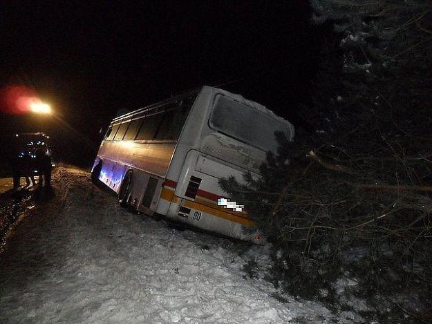 Autobus z dziećmi wpadł do rowu - Aktualności Podkarpacie