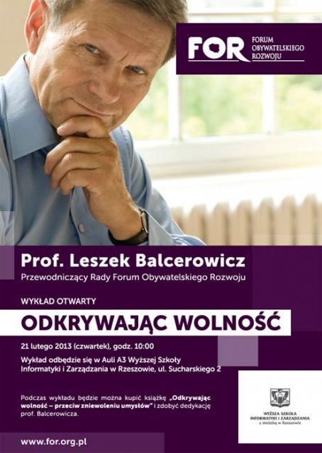 Wykład Balcerowicza w Rzeszowie - Aktualności Rzeszów