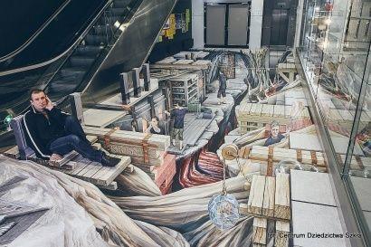 Trójwymiarowe graffiti w Centrum Dziedzictwa Szkła - Aktualności Podkarpacie
