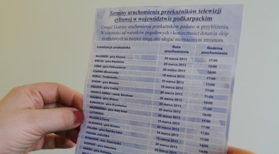 80 tys. ulotek dotyczących cyfryzacji - Aktualności Podkarpacie