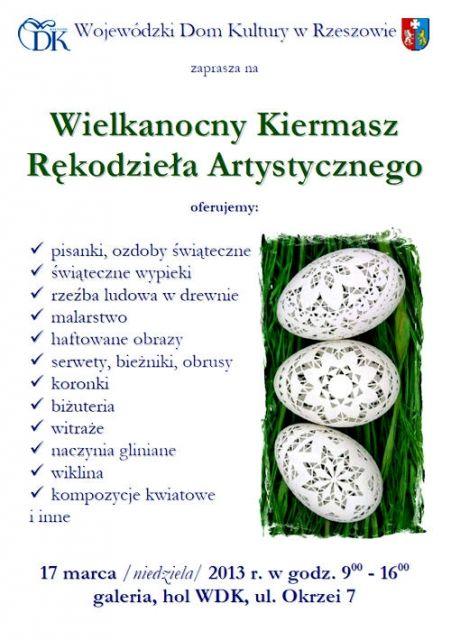 Wielkanocny Kiermasz Rękodzieła Artystycznego - Aktualności Rzeszów