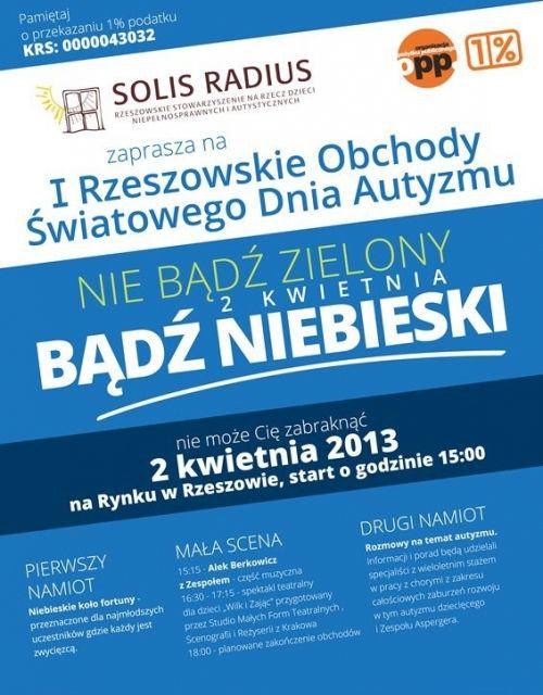 Rzeszowskie obchody Światowego Dnia Autyzmu - Aktualności Rzeszów