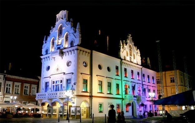 Iluminacje rzeszowskiego Ratusza - Aktualności Rzeszów