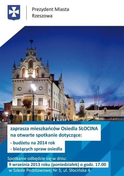 Spotkanie Prezydenta z mieszkańcami Słociny - Aktualności Rzeszów
