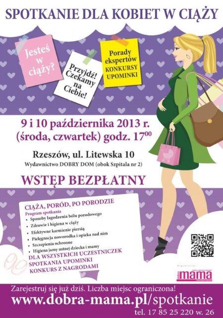 Spotkanie dla kobiet w ciąży z Dobrą Mamą - Aktualności Rzeszów