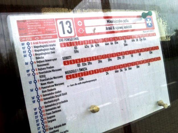 Nowy rozkład jazdy MPK - Aktualności Rzeszów