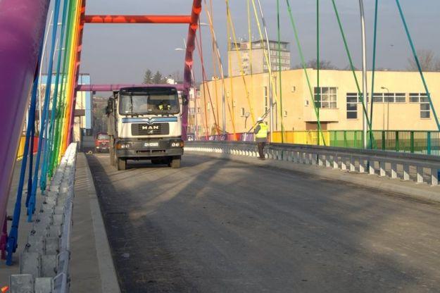 Próbne obciążenie Mostu Narutowicza - Aktualności Rzeszów