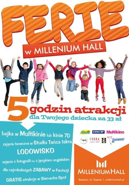 Ferie zimowe w Millenium Hall - Aktualności Rzeszów