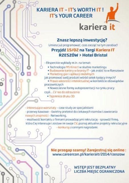 Targi Kariery IT - Aktualności Rzeszów