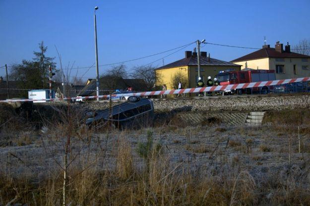 Zderzenie pociągu z samochodem (Zdjęcia z wypadku) - Aktualności Podkarpacie