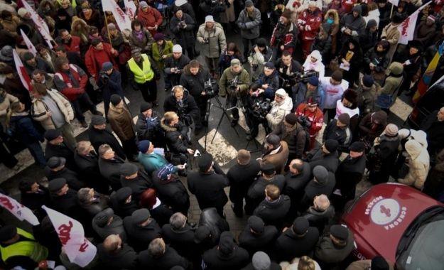Protest na znak solidarności z Ukrainą - Aktualności Podkarpacie