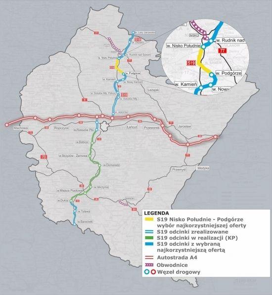 Poznaliśmy ofertę na zaprojektowanie i budowę odcinka drogi S19 Nisko Południe – Podgórze - Aktualności Podkarpacie - zdj. 1