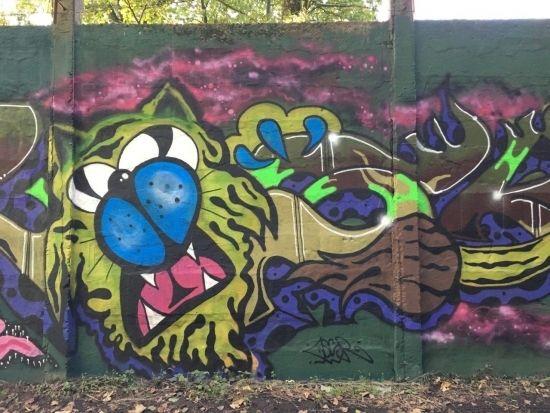 Na drodze prowadzącej na Lisią Górę powstało blisko 100-metrowe graffiti [FOTO] - Aktualności Rzeszów - zdj. 3