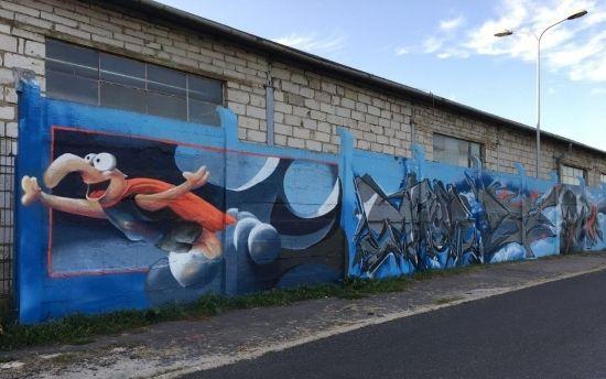 Na drodze prowadzącej na Lisią Górę powstało blisko 100-metrowe graffiti [FOTO] - Aktualności Rzeszów - zdj. 4