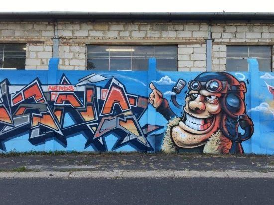 Na drodze prowadzącej na Lisią Górę powstało blisko 100-metrowe graffiti [FOTO] - Aktualności Rzeszów - zdj. 5