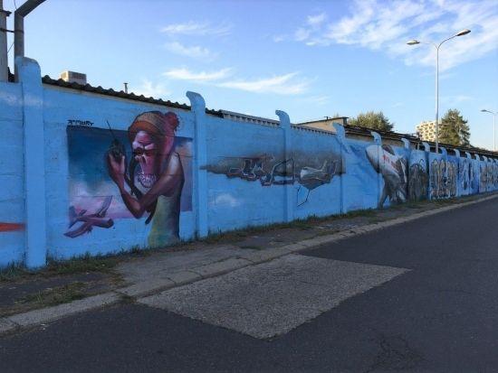 Na drodze prowadzącej na Lisią Górę powstało blisko 100-metrowe graffiti [FOTO] - Aktualności Rzeszów - zdj. 6